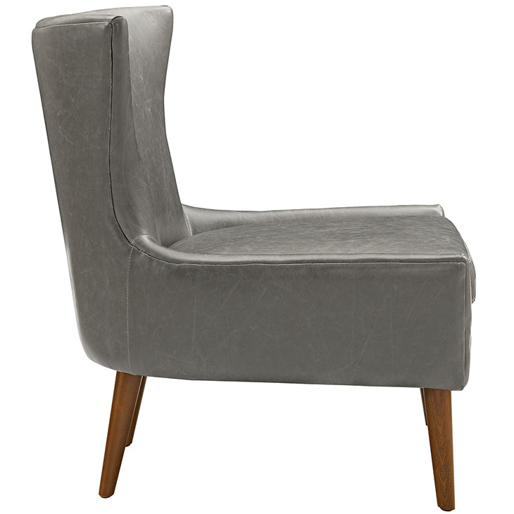journal mid century modern accent chair gray 2