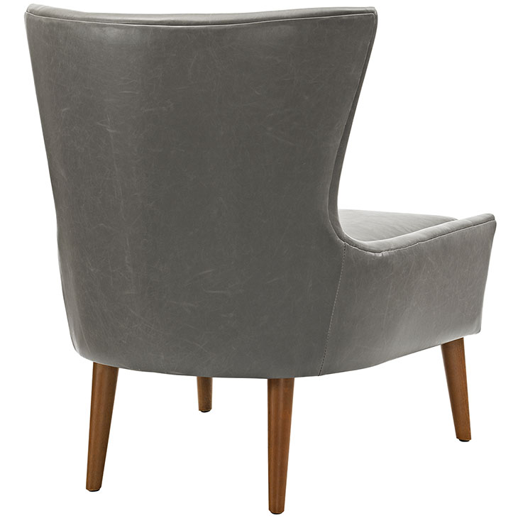 journal mid century modern accent chair gray 3