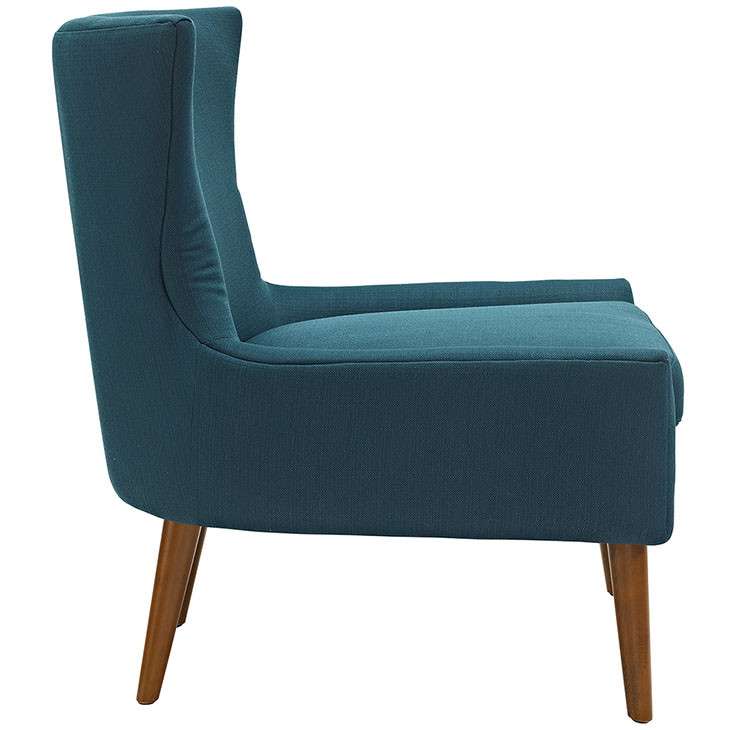 journal mid century modern fabric accent chair blue 2