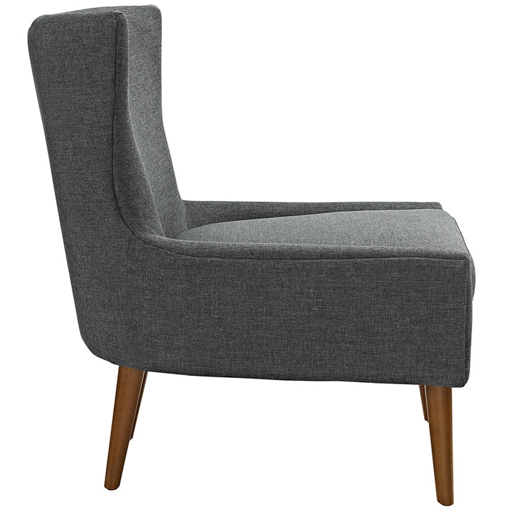 journal mid century modern fabric accent chair gray 2