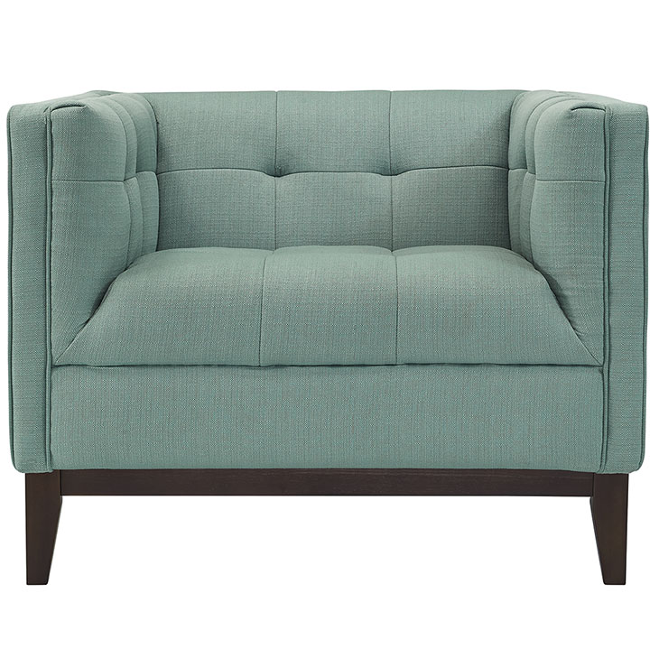lark fabric armchair mint green 4