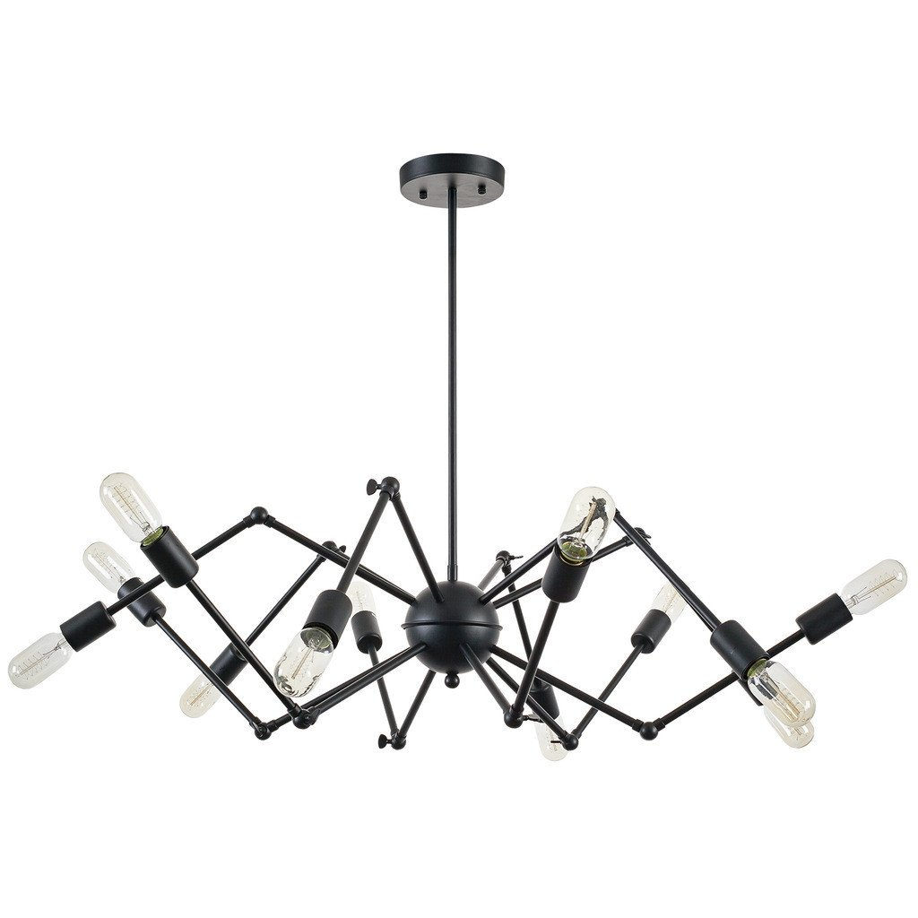 level flexible black wire chandelier 1