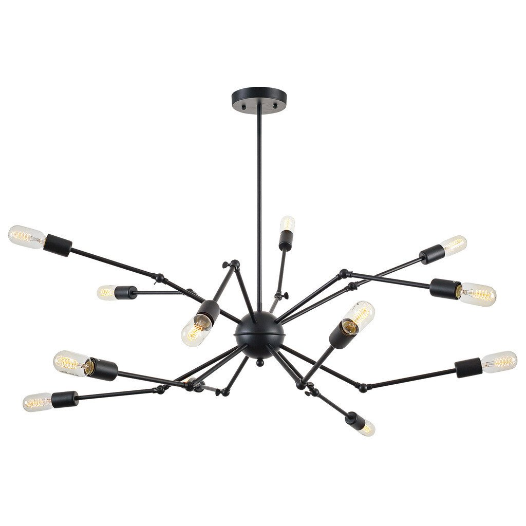 level flexible black wire chandelier 2
