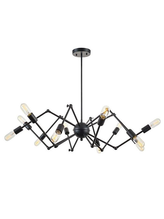 level flexible black wire chandelier