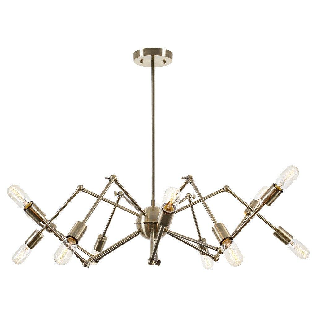 level flexible gold wire chandelier 1