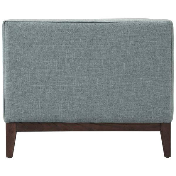 light grey tufted sofa