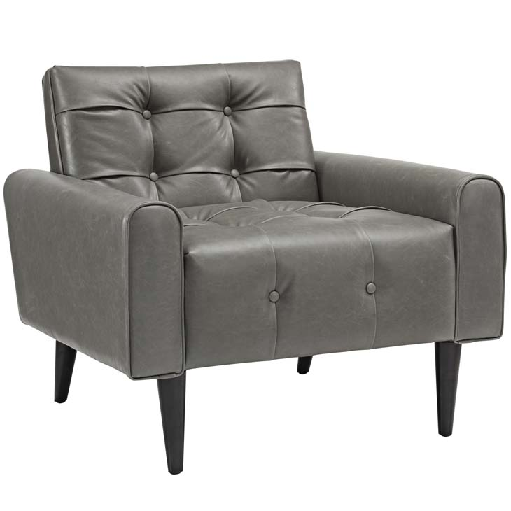 midnight leather armchair gray 1