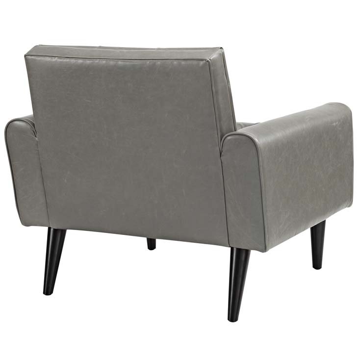 midnight leather armchair gray 3
