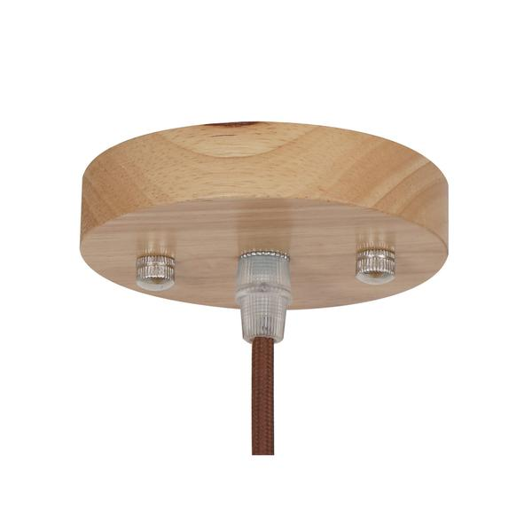 natural wood petals medium pendant light 2