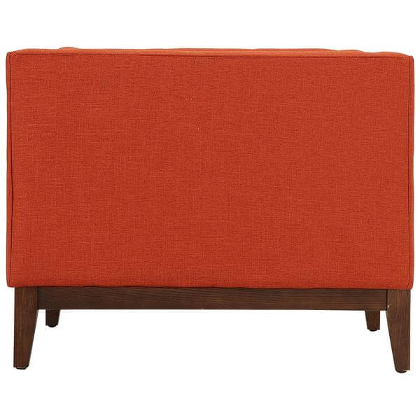 orange midcentury chair