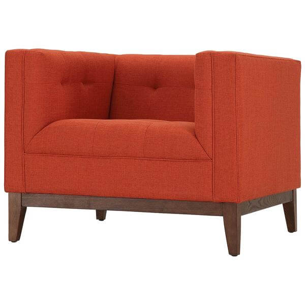 orange midcentury sofa chair