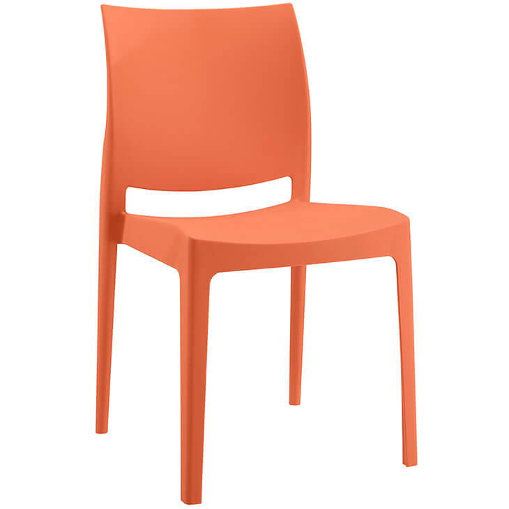 orange modern outdoor chair