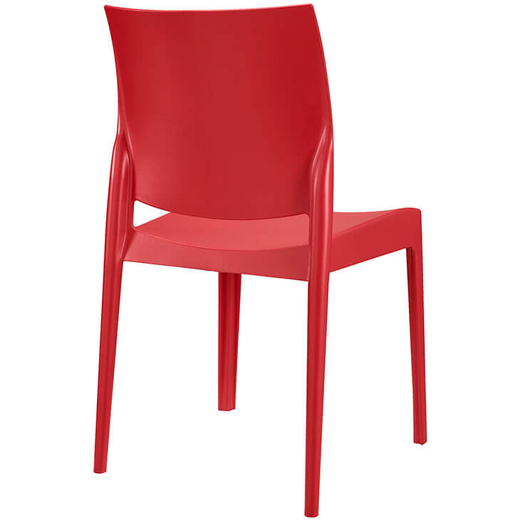 red modern cafe chair