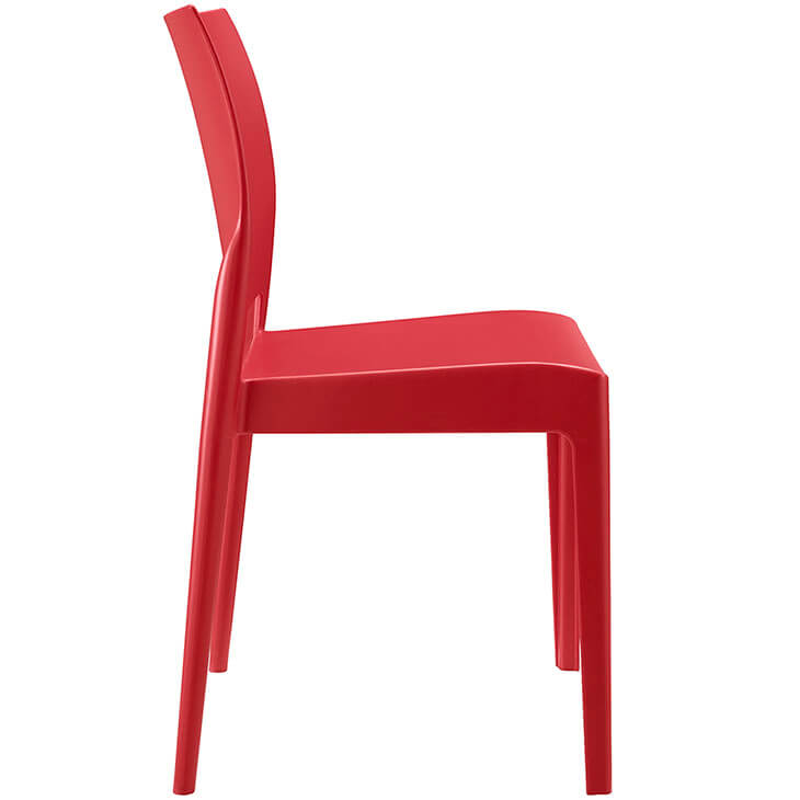 red modern outdoor chair