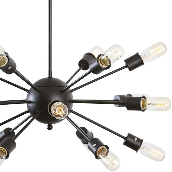 sputnik black metal chandelier 3