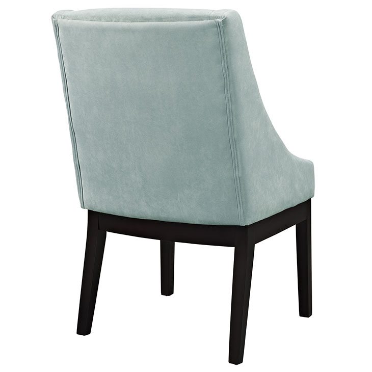 suede kima chair mint green 3