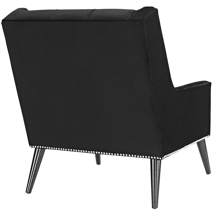 tilly velvet armchair black 4