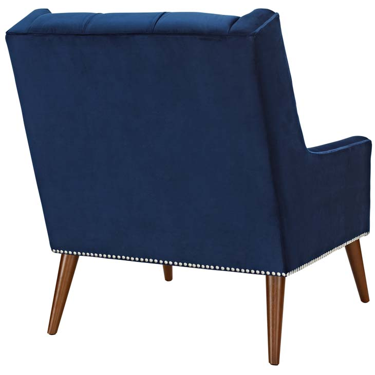 tilly velvet armchair blue 3