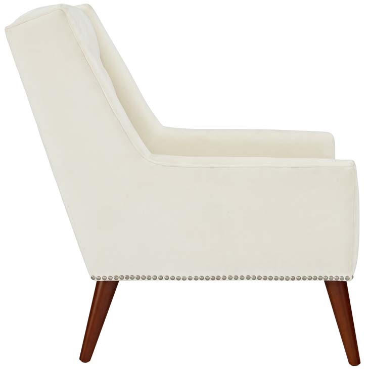 tilly velvet armchair cream 2
