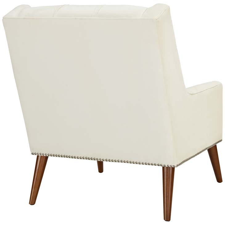 tilly velvet armchair cream 3