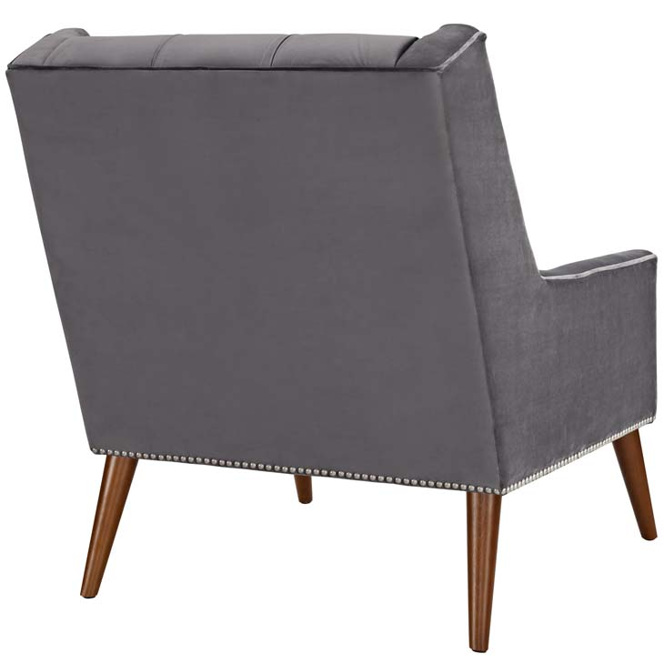tilly velvet armchair gray 3
