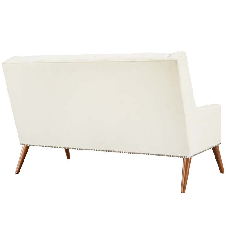 tilly velvet loveseat cream 2