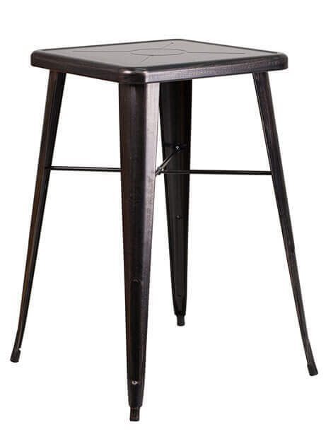 tonic bar table 23 metal black antique gold 1