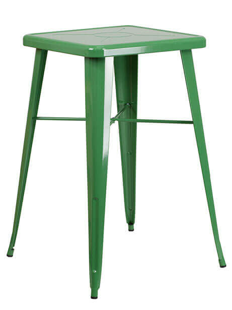 tonic bar table 23 metal green 1