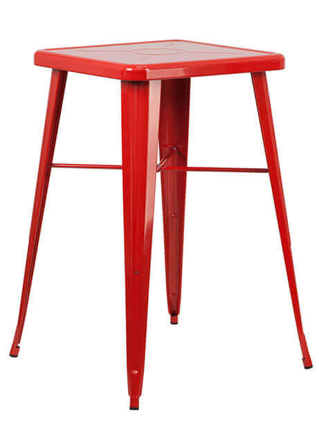tonic bar table 23 red metal 1