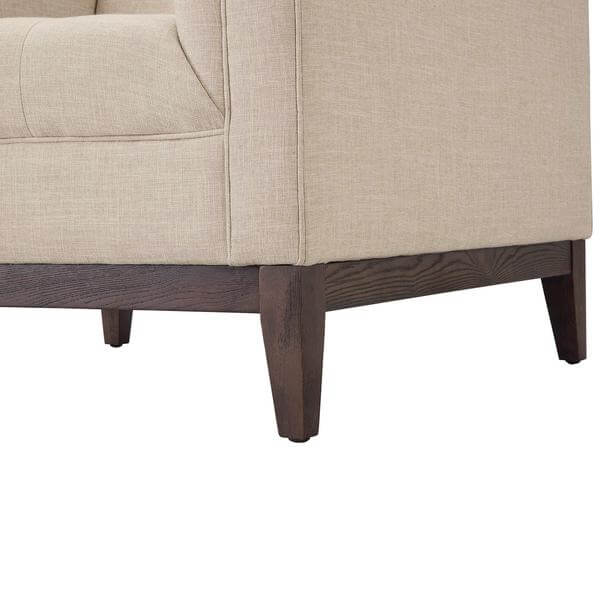 walnut beige sofa chair