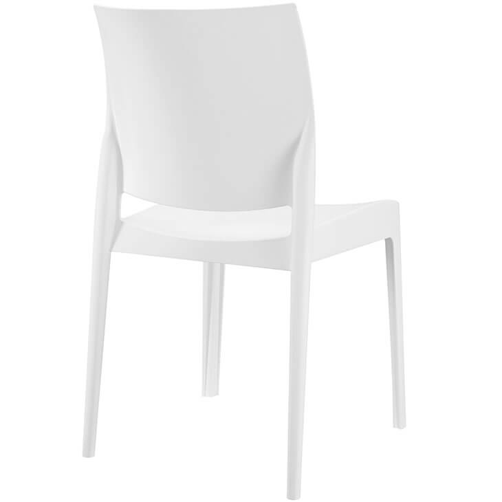 white modern cafe chair