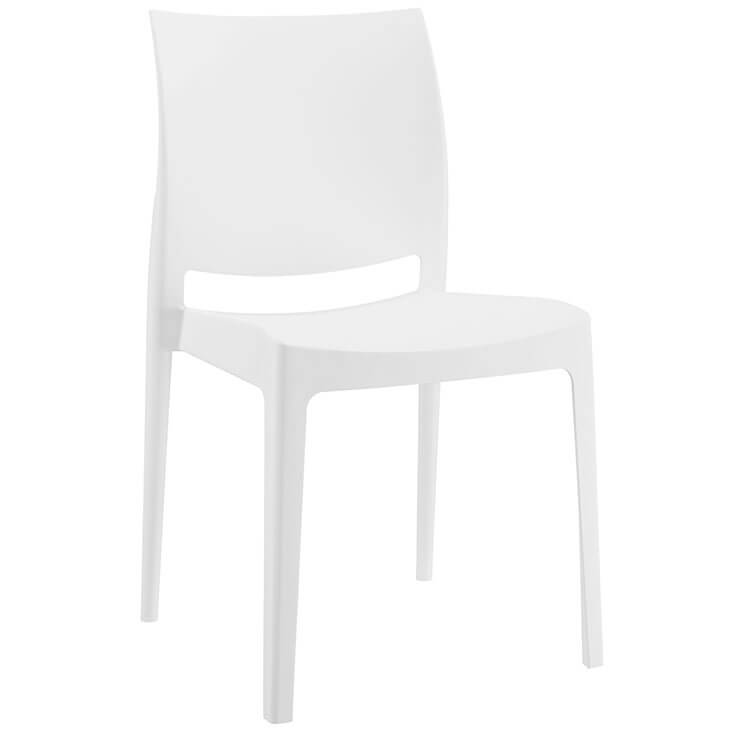 white modern outdoor chairs