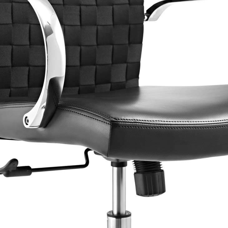 black woven office chair 2