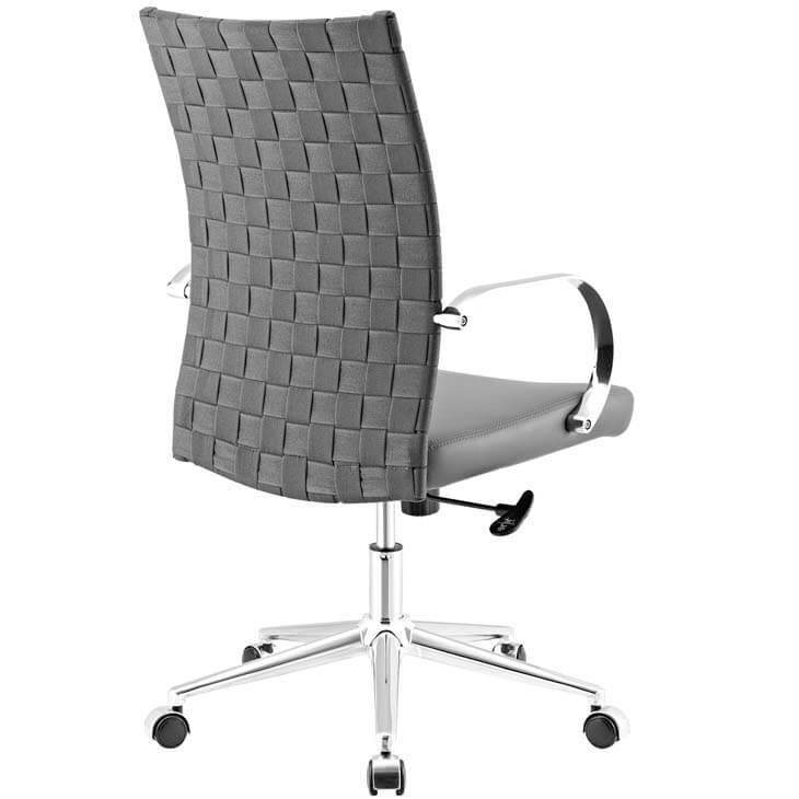 gray woven office chair 5