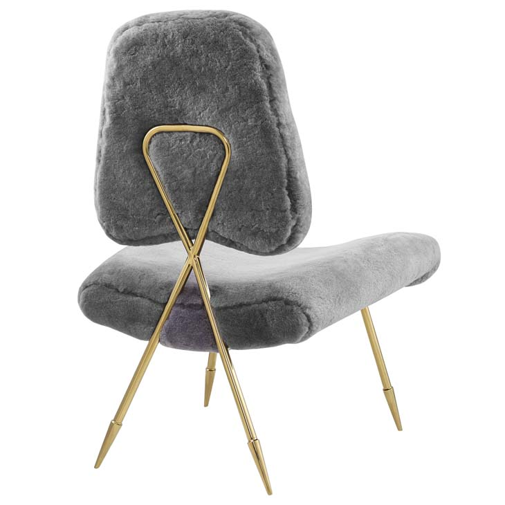 stratus gold sheepskin accent chair gray 3