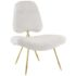 Stratus Gold Sheepskin Accent Chair White