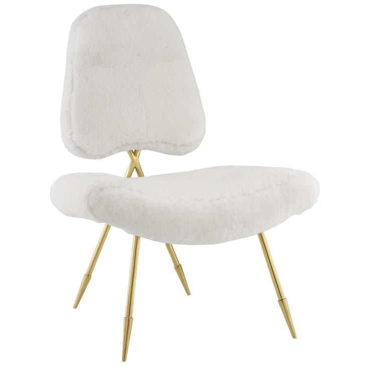 stratus gold sheepskin accent chair white 1