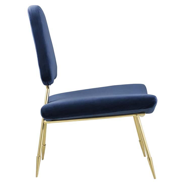 stratus gold velvet accent chair blue 2