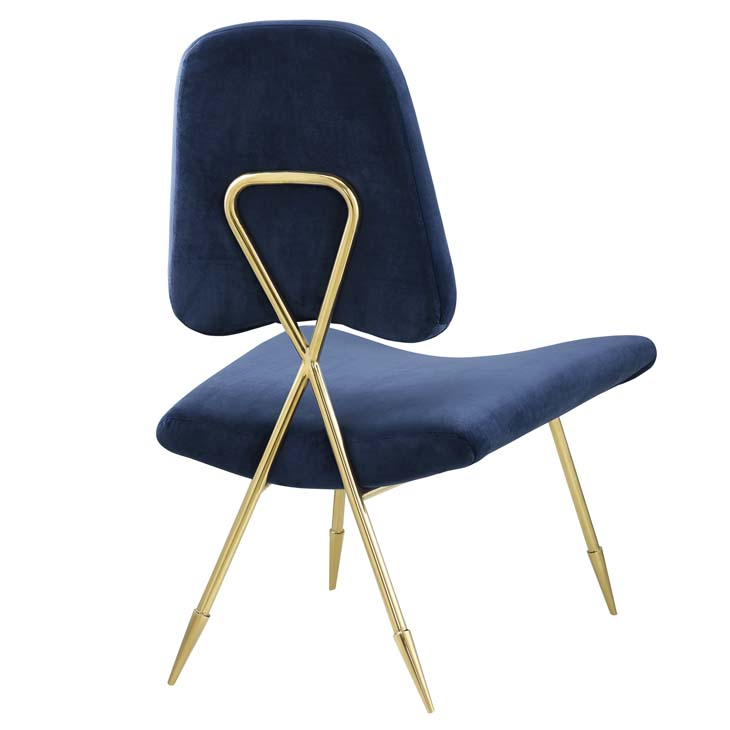 stratus gold velvet accent chair blue 3