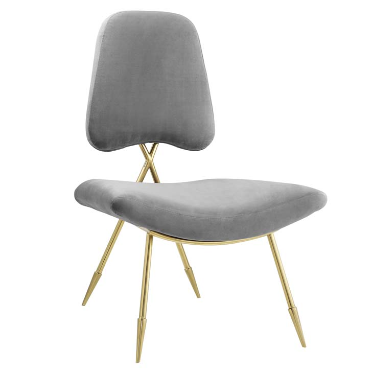 Stratus Gold Velvet Accent Chair Modern Furniture