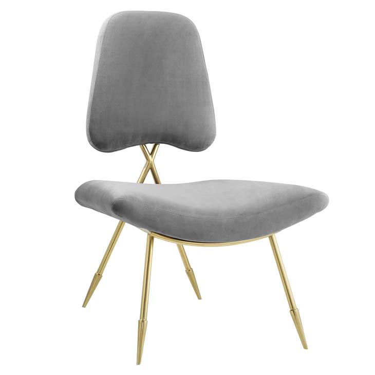 stratus gold velvet accent chair gray 1