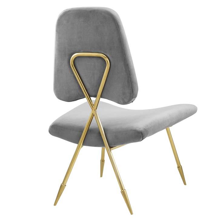 stratus gold velvet accent chair gray 3