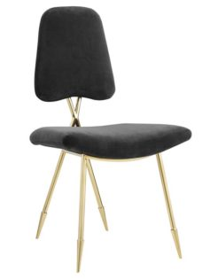 Stratus Gold Velvet Chair Black