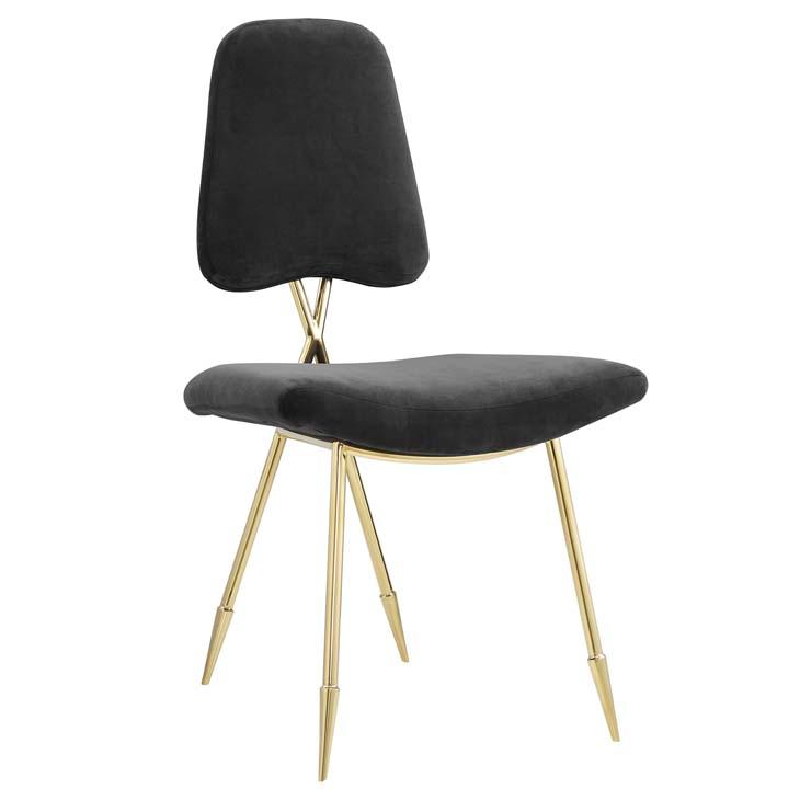 stratus gold velvet chair black 1