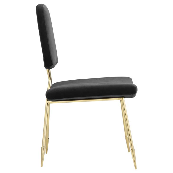 stratus gold velvet chair black 2