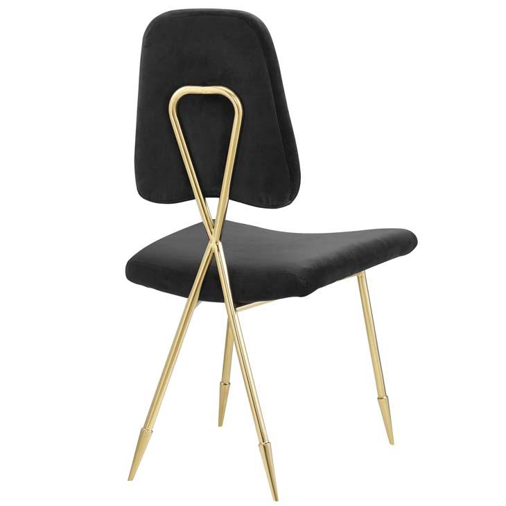 stratus gold velvet chair black 3