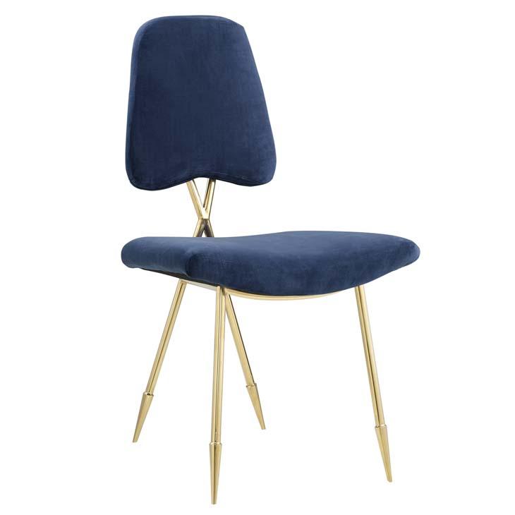 stratus gold velvet chair blue 1