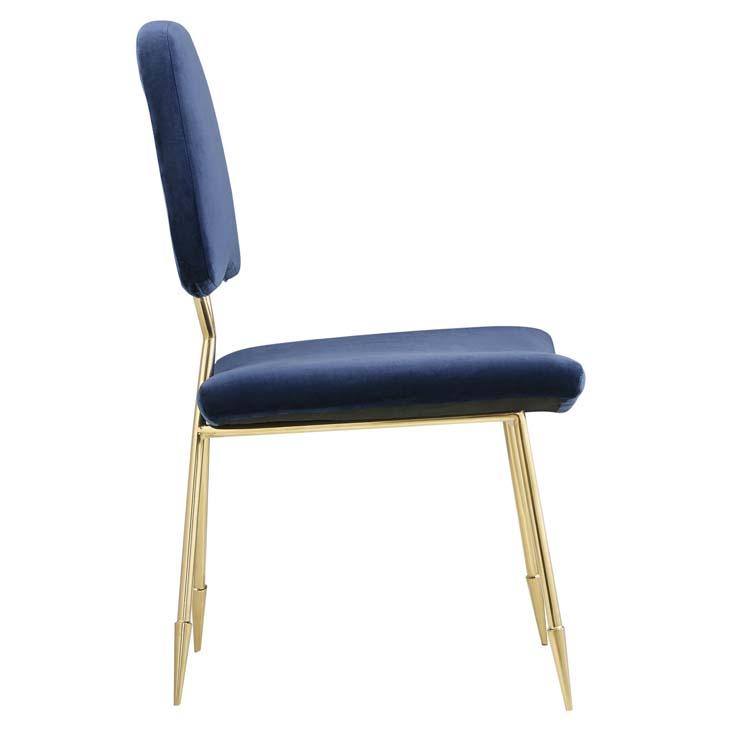 stratus gold velvet chair blue 2