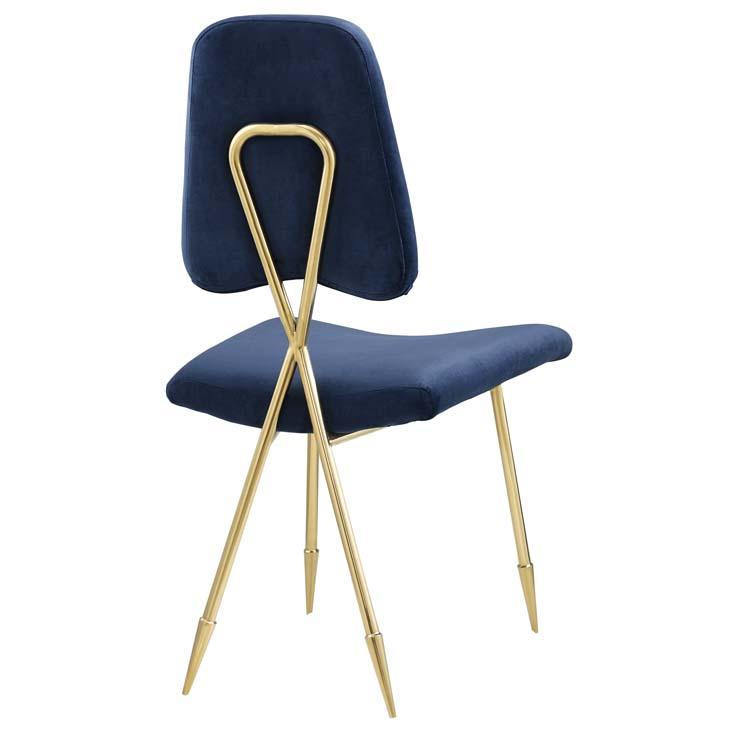 stratus gold velvet chair blue 3