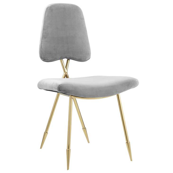 stratus gold velvet chair gray 1